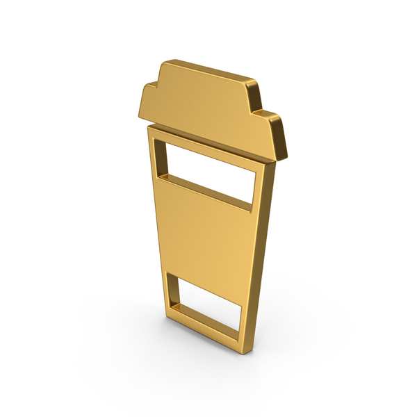 Computer Icon: Symbol To Go Coffee Cup Gold PNG & PSD Images