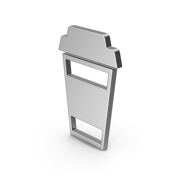 Computer Icon: Symbol To Go Coffee Cup Silver PNG & PSD Images