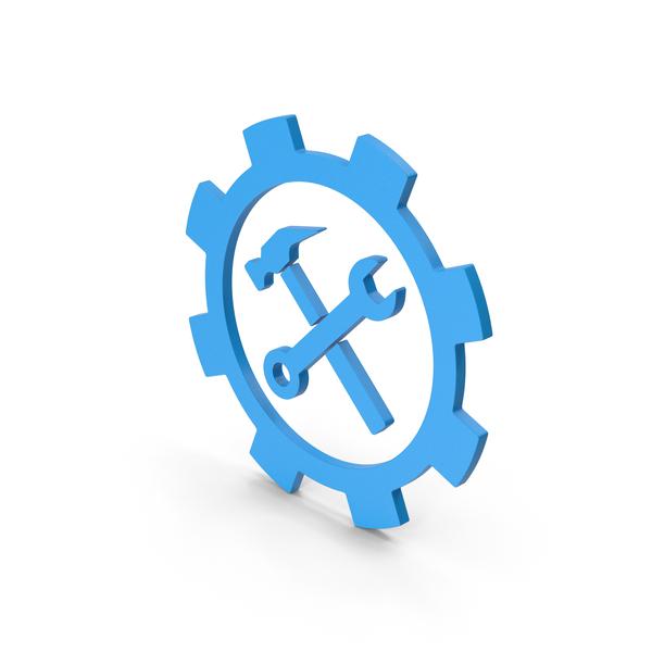 Logo: Symbol Tools Blue PNG & PSD Images