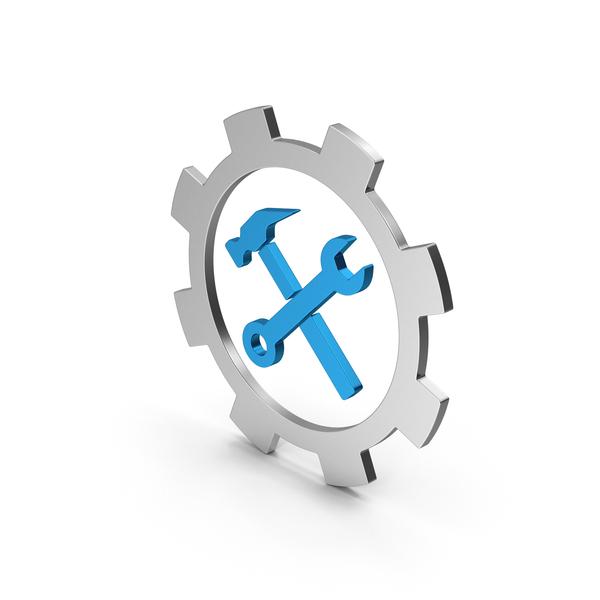 Logo: Symbol Tools Colored Metallic PNG & PSD Images