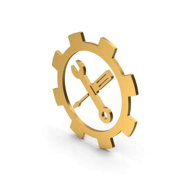 Logo: Symbol Tools Gold PNG & PSD Images