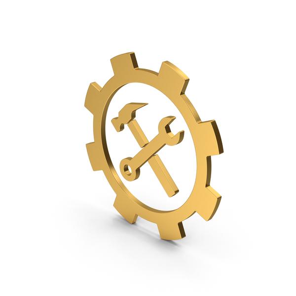 Symbols: Symbol Tools Gold PNG & PSD Images