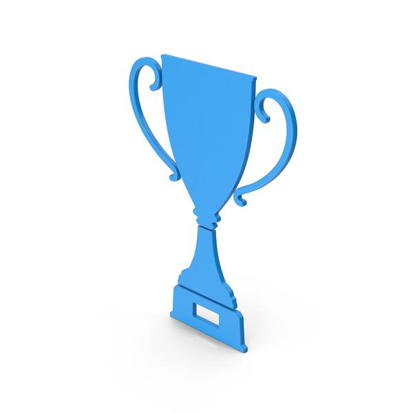 Symbol Trophy Cup Blue PNG & PSD Images