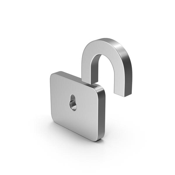 Lock: Symbol Unlocked Padlock Silver PNG & PSD Images