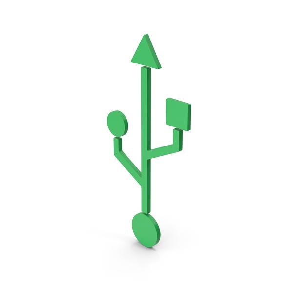 Symbol USB Green PNG & PSD Images