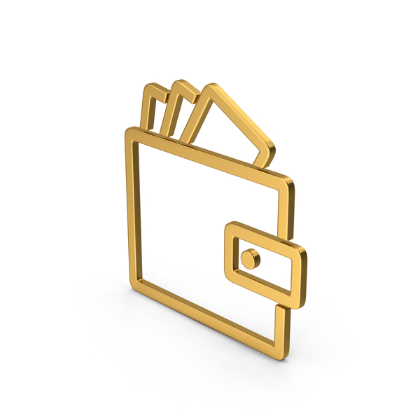 Symbols: Symbol Wallet With Money Gold PNG & PSD Images