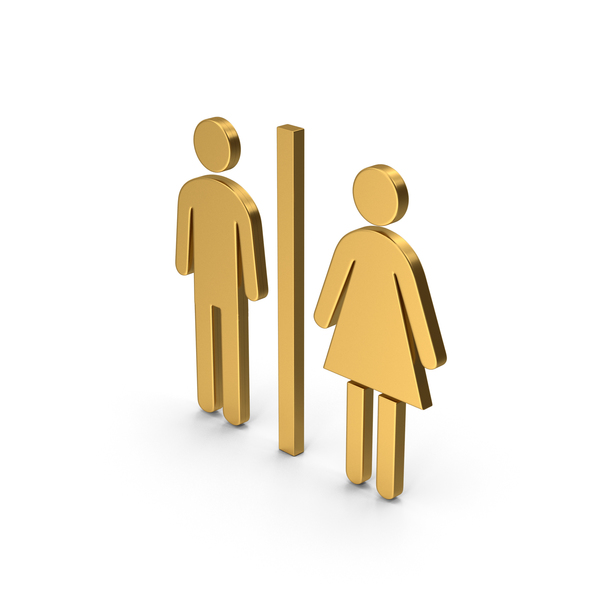 Toilet Sign: Symbol WC Gold PNG & PSD Images