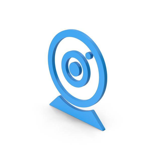 Camera: Symbol Webcam Blue PNG & PSD Images