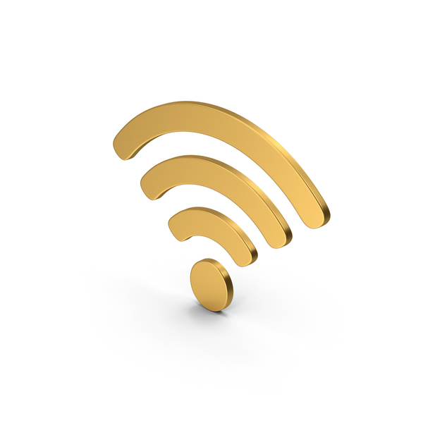 Wi Fi: Symbol WIFI Gold PNG & PSD Images