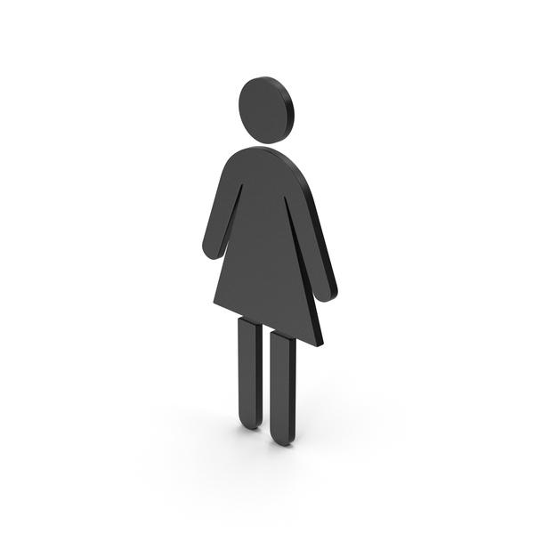 Sign: Symbol Women Toilet Black PNG & PSD Images