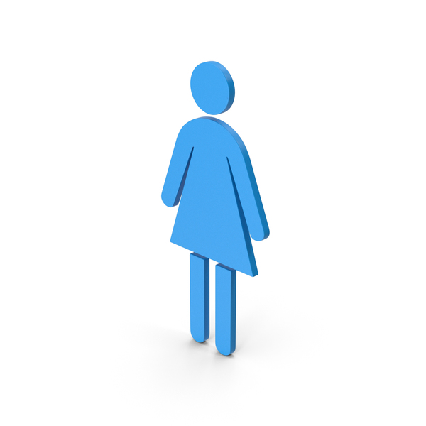 Industrial Equipment: Symbol Women Toilet Blue PNG & PSD Images
