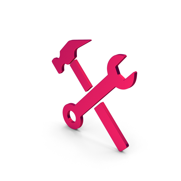 Symbols: Symbol Wrench And Hammer Metallic PNG & PSD Images