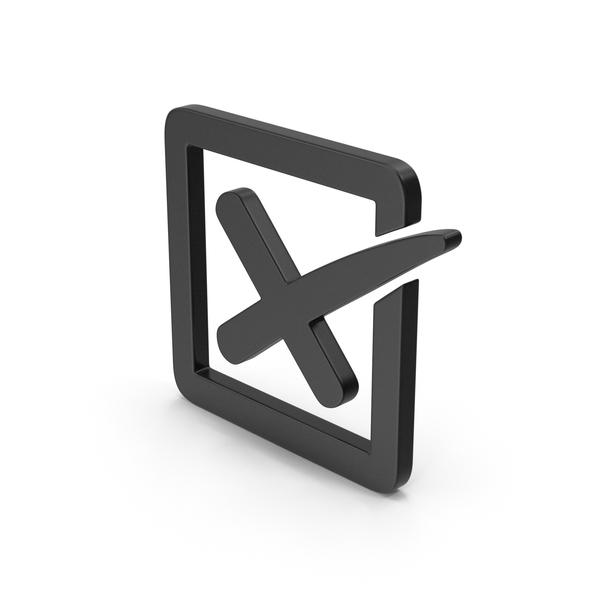 Industrial Equipment: Symbol X Mark Box Black PNG & PSD Images