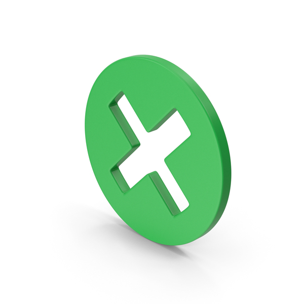 Computer Icon: Symbol X Mark Green PNG & PSD Images