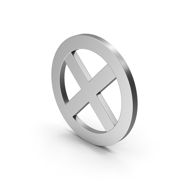 Computer Icon: Symbol X Mark Silver PNG & PSD Images