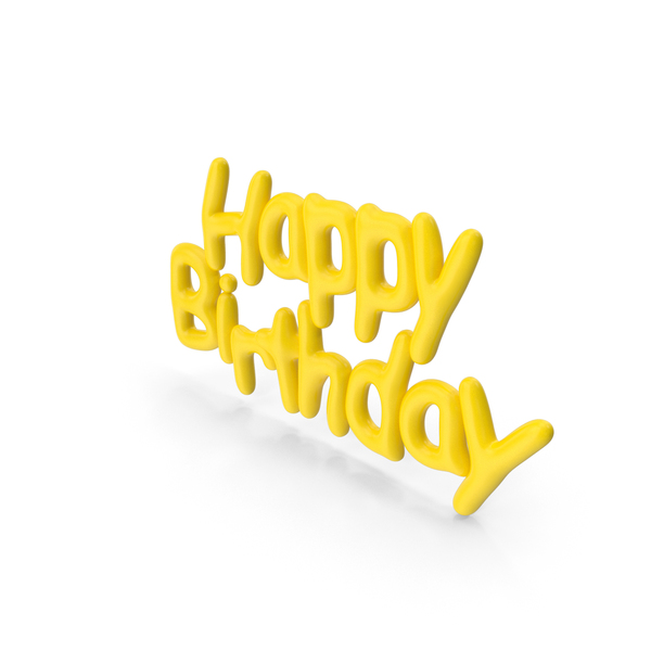 Symbol Yellow Happy Birthday PNG & PSD Images