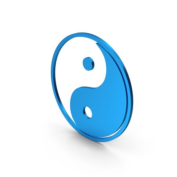 And: Symbol Yin Yang Blue Metallic PNG & PSD Images