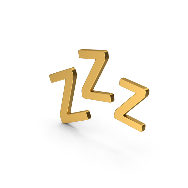 Computer Icon: Symbol ZZz Sleep Gold PNG & PSD Images