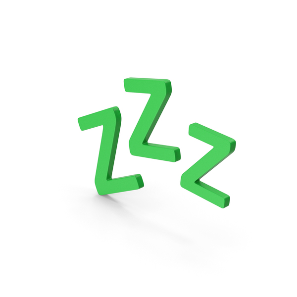 Computer Icon: Symbol ZZz Sleep Green PNG & PSD Images
