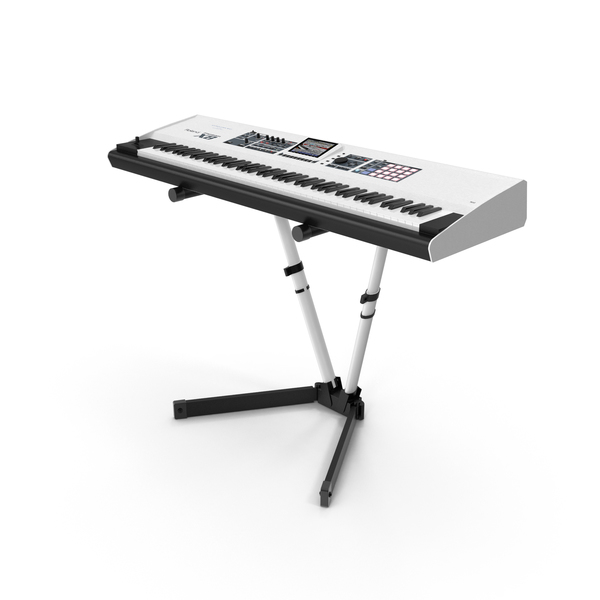 Synthesizer with Stand PNG & PSD Images