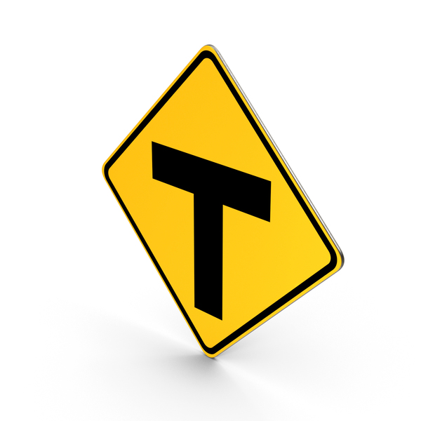 Traffic Signs: T Roads Road Sign PNG & PSD Images