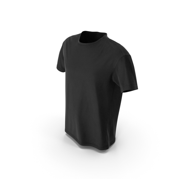T-Shirt Black PNG & PSD Images
