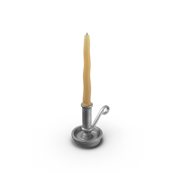 Candlestick: Table Candle in Holder PNG & PSD Images