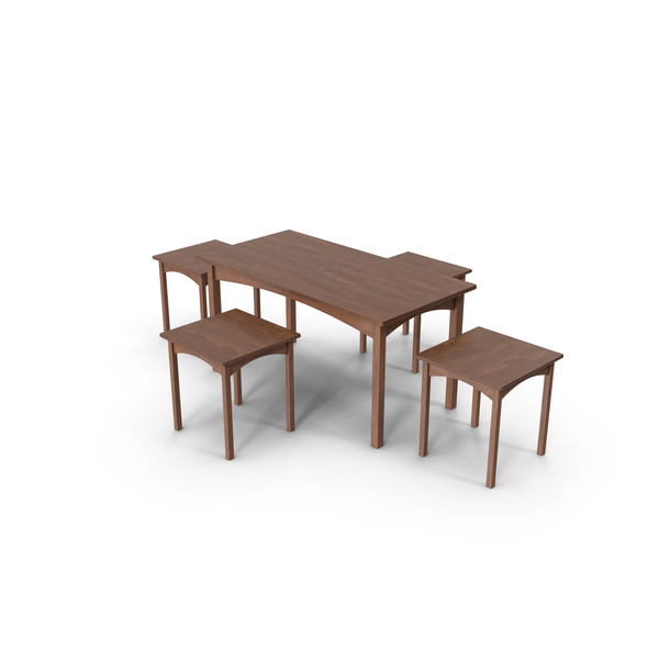 Table & Chair PNG & PSD Images