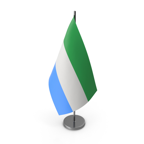 Table Flag Sierra Leone PNG & PSD Images