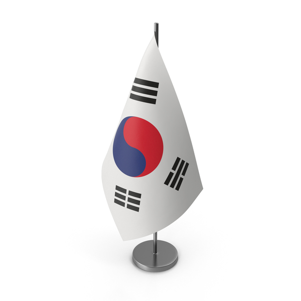 Table Flag South Korea PNG & PSD Images
