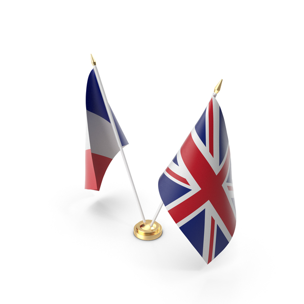 Table Flags United Kingdom and France PNG & PSD Images