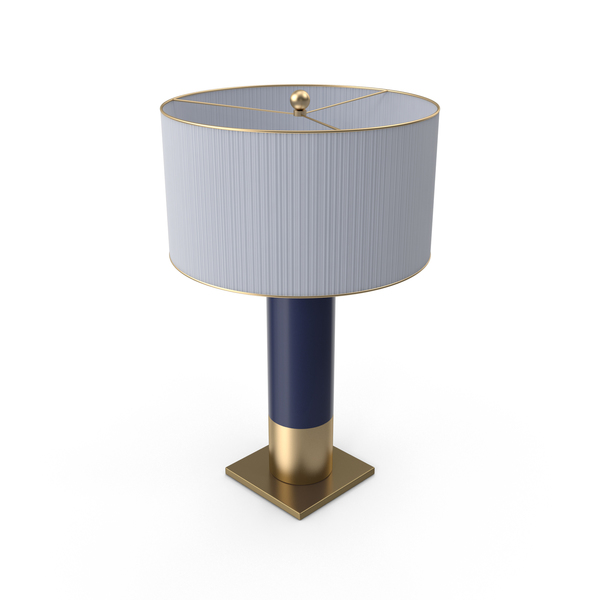 Table Lamp with Blue Base PNG & PSD Images