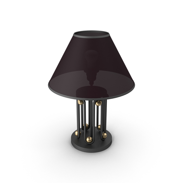 Table Lamp with Gold Ball PNG & PSD Images
