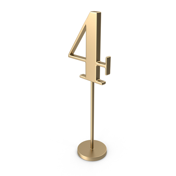 Table Number 4 PNG & PSD Images