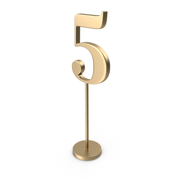Table Number 5 PNG & PSD Images