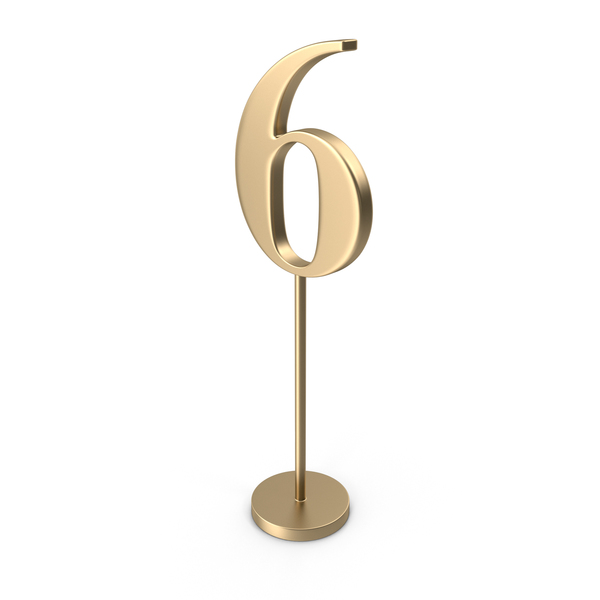 Table Number 6 PNG & PSD Images