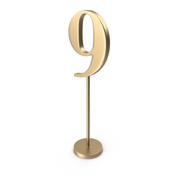 Table Number 9 PNG & PSD Images