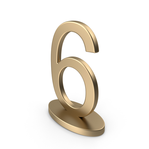 Number: Table Numbers Sign 6 PNG & PSD Images