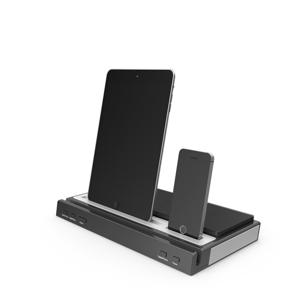 Tablet and Smartphone Docking Station PNG & PSD Images