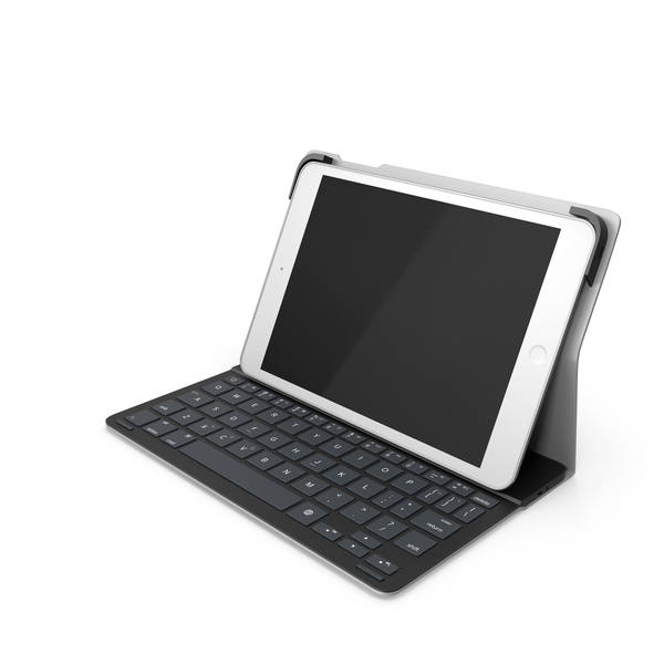 Tablet With Typing Keyboard Accessory PNG & PSD Images