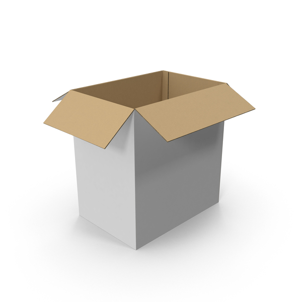 Tall CardBoard Box Open PNG & PSD Images