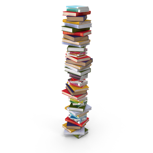 Tall Stack of Books Object