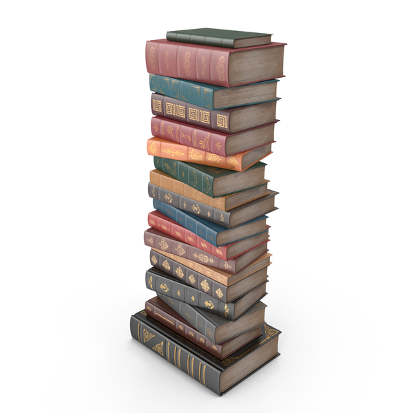 Tall Stack of Classic Books PNG & PSD Images