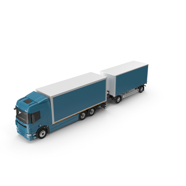 Tandem Euro Semi Truck PNG & PSD Images