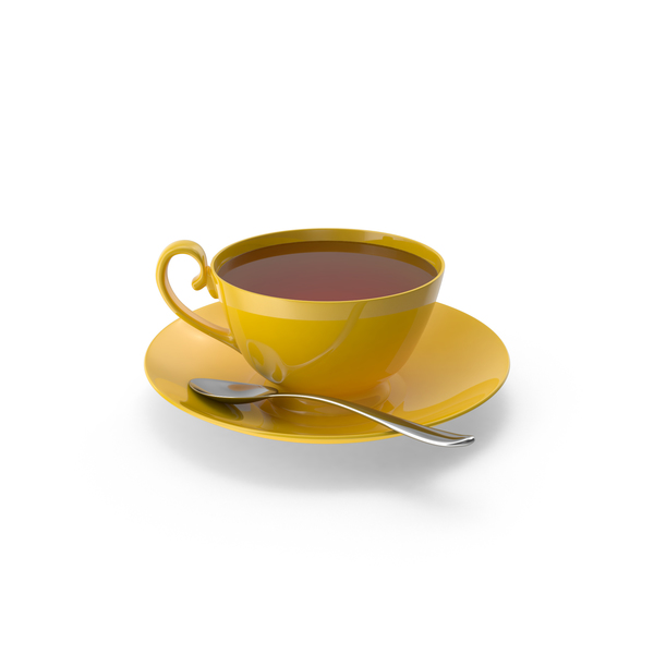 Teacup: Tea Cup with Spoon PNG & PSD Images