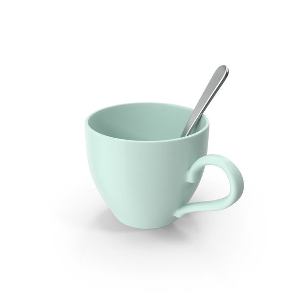 Teacup With Spoon PNG & PSD Images