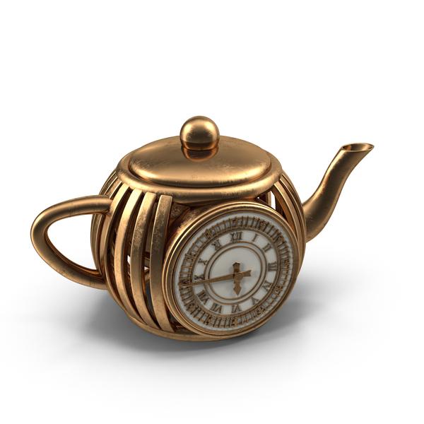 Teapot Clock PNG & PSD Images