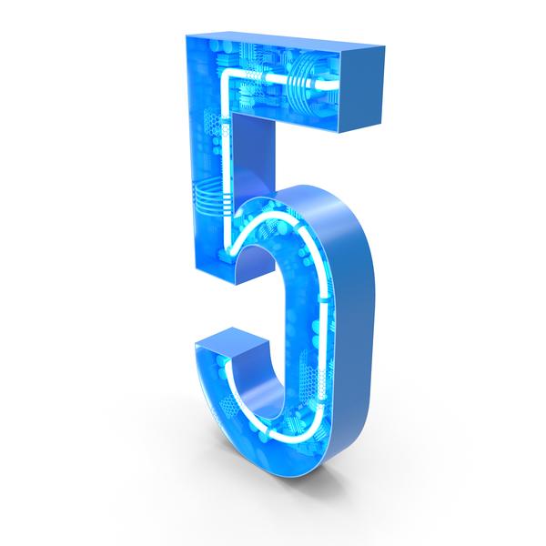 Tech Alphabet Number 5 PNG & PSD Images