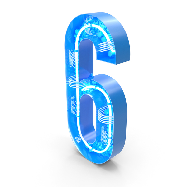 Tech Alphabet Number 6 PNG & PSD Images