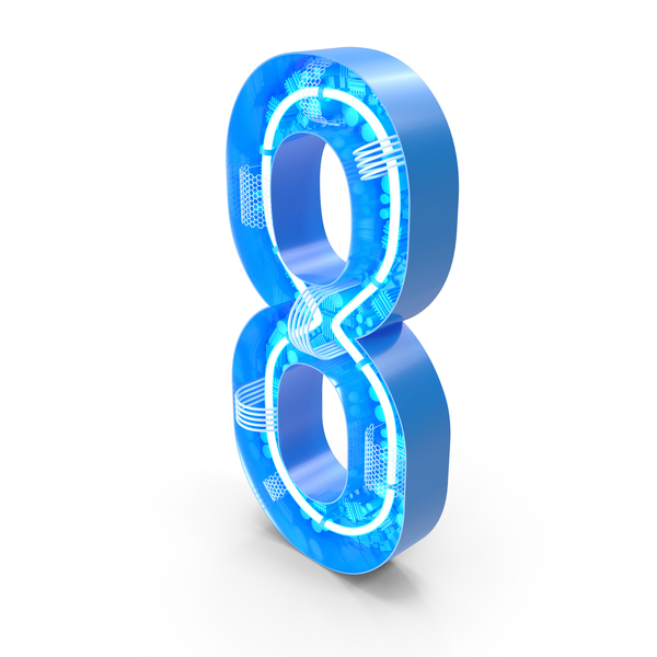 Tech Number 8 PNG & PSD Images